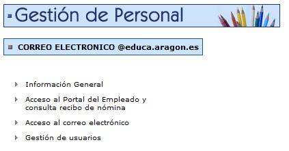 Correo electronico educaragon